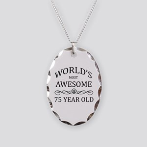 World's Most Awesome 75 Year Old Necklace Oval Cha