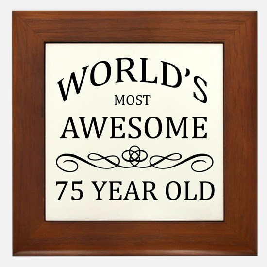 World's Most Awesome 75 Year Old Framed Tile