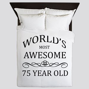 World's Most Awesome 75 Year Old Queen Duvet