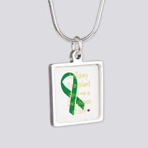 2nd Chance At Life (Kidney) Silver Square Necklace