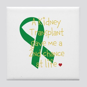 2nd Chance At Life (Kidney) Tile Coaster
