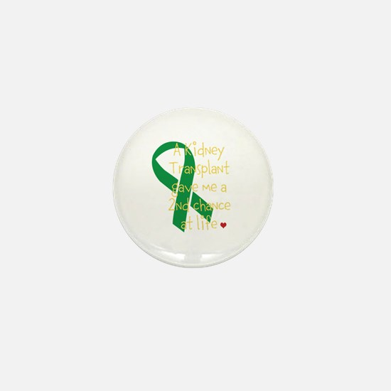 2nd Chance At Life (Kidney) Mini Button (100 pack)