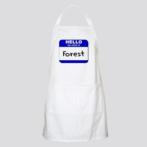 hello my name is forest  BBQ Apron