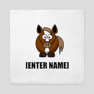 Horse Personalize It! Queen Duvet