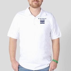 Nicaragua #1 Grandpa Golf Shirt