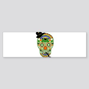 Irish Sugar Skull Sticker (Bumper)