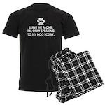 Leave me alone today dog Men's Dark Pajamas