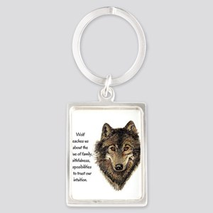 Wolf Totem Animal Guide Watercolor Nature Art Keyc
