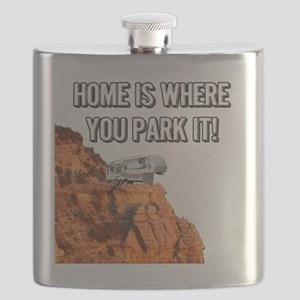 Home Is Where You Park It - Fifth Wheel Flask