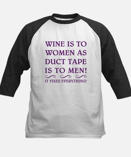 WINE IS... Kids Baseball Jersey