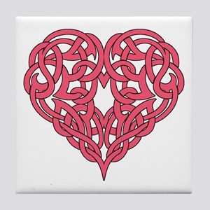 CELTIC HEART-PINK Tile Coaster