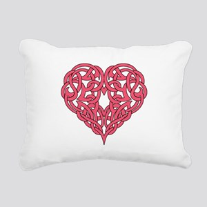 CELTIC HEART-PINK Rectangular Canvas Pillow
