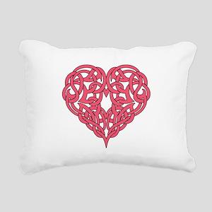 CELTIC HEART-PINK Rectangular Canvas Pillow