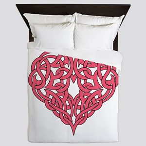 CELTIC HEART-PINK Queen Duvet
