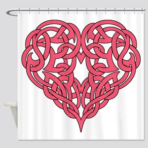CELTIC HEART-PINK Shower Curtain