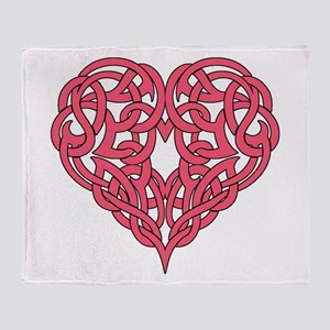 CELTIC HEART-PINK Throw Blanket