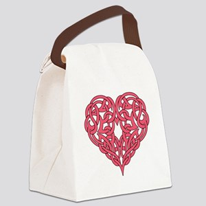 CELTIC HEART-PINK Canvas Lunch Bag