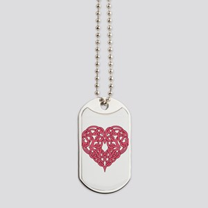 CELTIC HEART-PINK Dog Tags