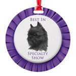 Brussels Griffon Best In Specialty Show Ornament