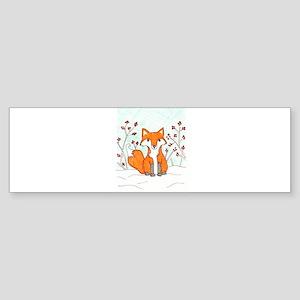 fancy fox Bumper Sticker