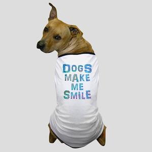 Dogs Make Me Smile T-Shirt Design Dog T-Shirt