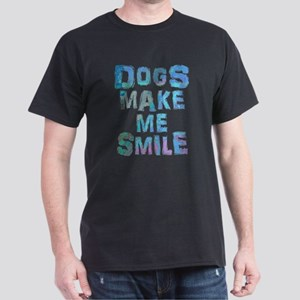 Dogs Make Me Smile T-Shirt Design T-Shirt