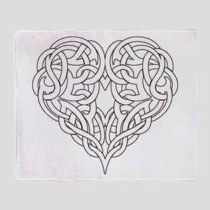 CELTIC HEART-OUTLINE Throw Blanket