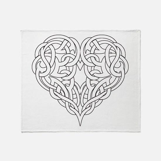 CELTIC HEART-OUTLINE Throw Blanket