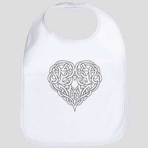 CELTIC HEART-OUTLINE Bib