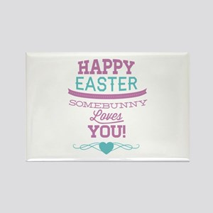 Somebunny Loves You Rectangle Magnet