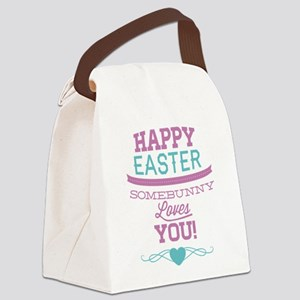 Somebunny Loves You Canvas Lunch Bag