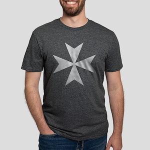 Silver Maltese Cross T-Shirt