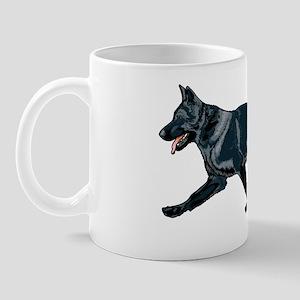 German shepherd black Mug
