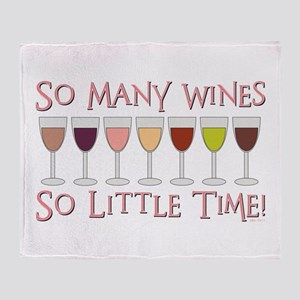 SO MANY WINES... Throw Blanket