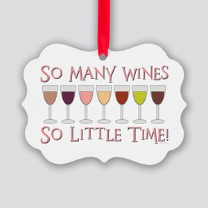 SO MANY WINES... Picture Ornament
