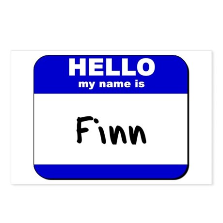 hello my name is finn Postcards (Package of 8)