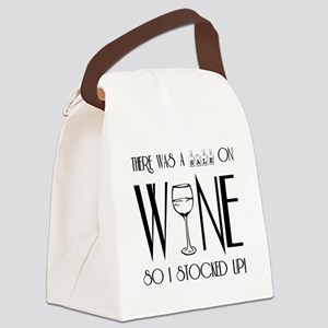 SALE ON WINE Canvas Lunch Bag
