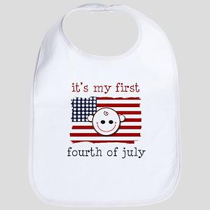 It's my first fourth of july Bib