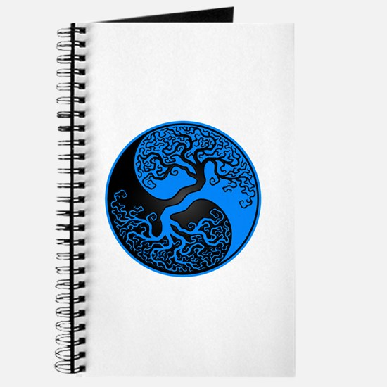 Blue And Black Yin Yang Tree Journal