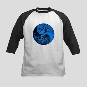 Blue and Black Yin Yang Tree Baseball Jersey