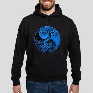 Blue and Black Yin Yang Tree Hoodie