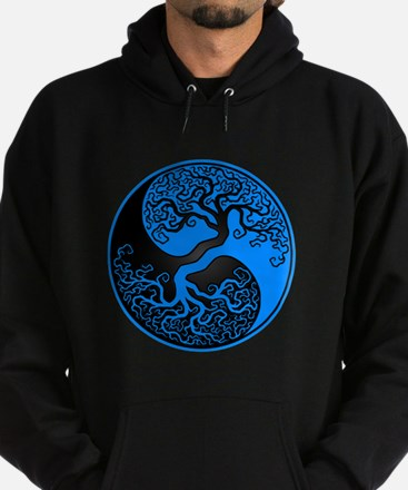 Blue and Black Yin Yang Tree Hoody