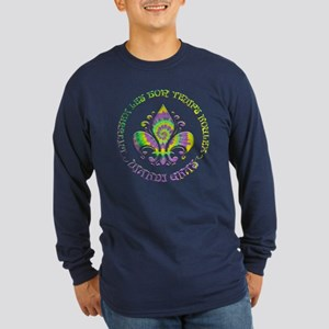 Fleur de Laissez Long Sleeve Dark T-Shirt