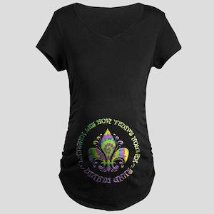 Fleur de Laissez Maternity Dark T-Shirt