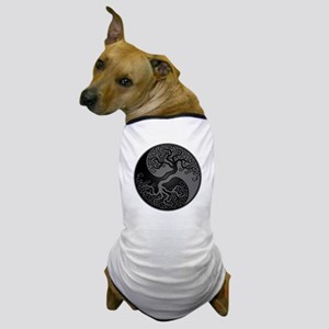 Grey and Black Yin Yang Tree Dog T-Shirt