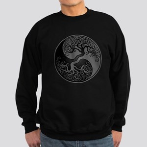 Grey and Black Yin Yang Tree Sweatshirt