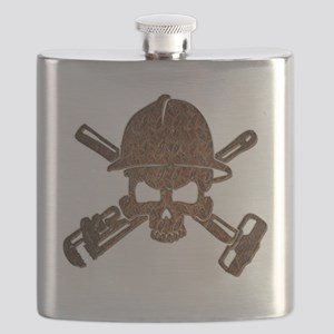 Rusty Oilfield Skull Flask