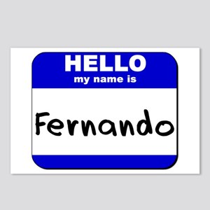 hello my name is fernando  Postcards (Package of 8