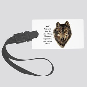 Wolf Totem Animal Guide Watercolor Nature Art Larg