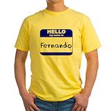 Abba fernando Mens Classic Yellow T-Shirts